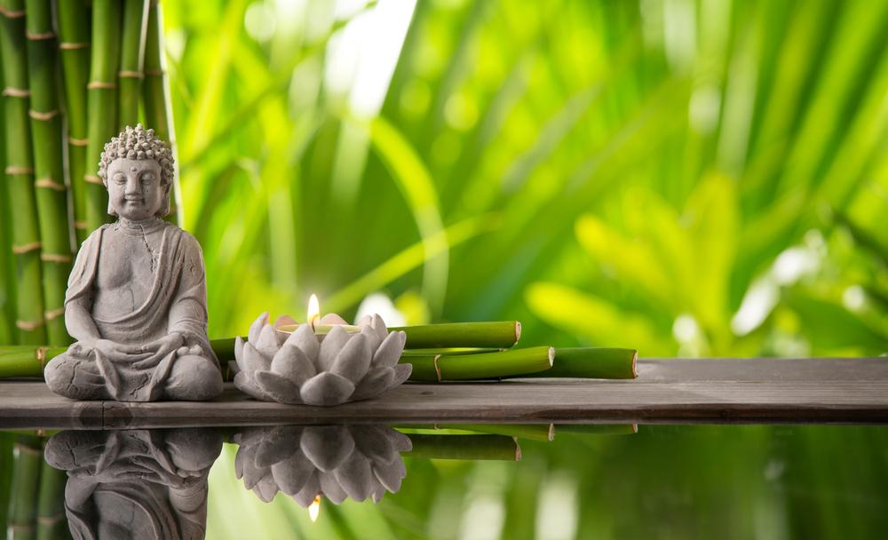 Ruhiger Ort mit Buddha
