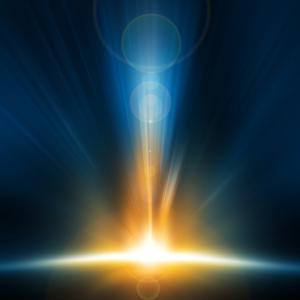 Licht erstrahlt die Welt