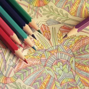 Mandala gemalt während Meditation